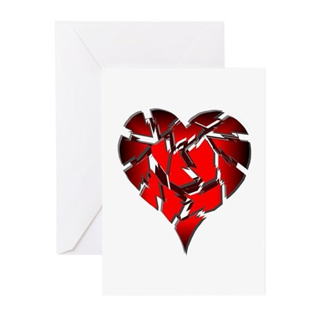Broken Heart Greeting Cards (Pk of 10)