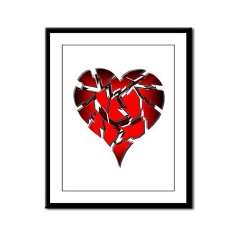 Broken Heart Framed Panel Print
