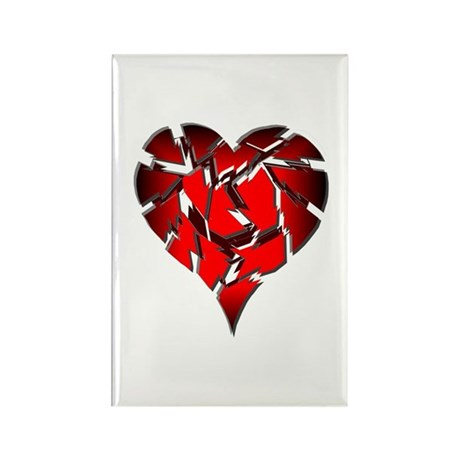 Broken Heart Rectangle Magnet (10 pack)