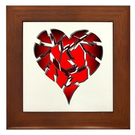 Broken Heart Framed Tile