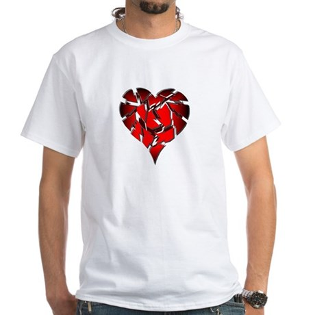 Broken Heart White T-Shirt