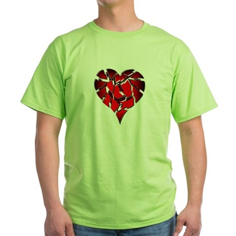 Broken Heart Green T-Shirt