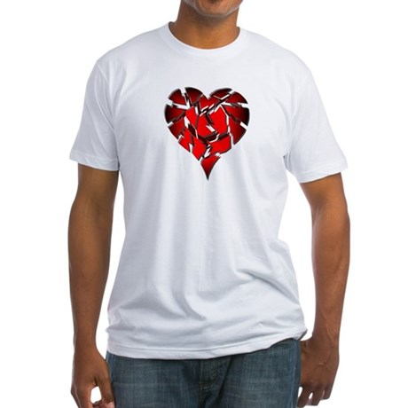 Broken Heart Fitted T-Shirt