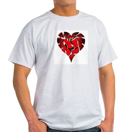 Broken Heart Ash Grey T-Shirt