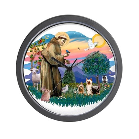 St Francis #2/ Silkies (2) Wall Clock