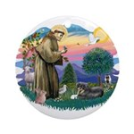 St Francis #2/ Tibetan Span Ornament (Round)