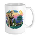 St Francis #2/ Tibetan Span Large Mug