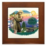 St Francis #2/ Tibetan Span Framed Tile