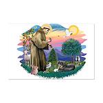 St Francis #2/ Tibetan Span Mini Poster Print