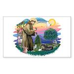 St Francis #2/ Tibetan Span Sticker (Rectangle)