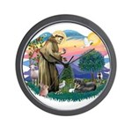 St Francis #2/ Tibetan Span Wall Clock