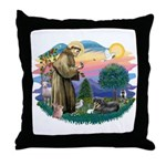 St Francis #2/ Tibetan Span Throw Pillow