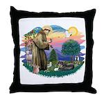 St Francis #2/ Tibetan Span Throw Pillow
