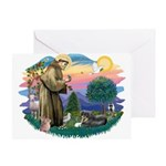 St Francis #2/ Tibetan Span Greeting Card