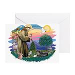 St Francis #2/ Tibetan Span Greeting Card