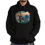 St Francis #2/ Tibetan Span Hoodie (dark)