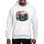 St Francis #2/ Tibetan Span Hooded Sweatshirt