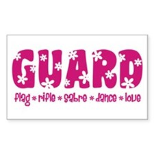 GUARD Pink Flowers Decal