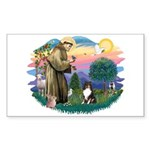 St Francis #2/ Sheltie (tri) Sticker (Rectangle)