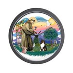 St Francis #2/ Sheltie (tri) Wall Clock