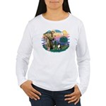 St Francis #2/ Sheltie (tri) Women's Long Sleeve T