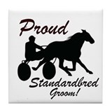 Proud Standardbred Groom Tile Coaster