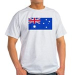 Australia Blank Flag Ash Grey T-Shirt