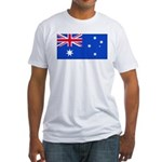 Australia Blank Flag Fitted T-Shirt