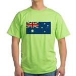 Australia Blank Flag Green T-Shirt
