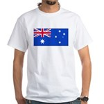 Australia Blank Flag White T-Shirt
