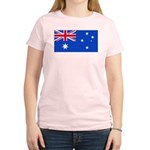 Australia Blank Flag Women's Pink T-Shirt