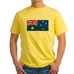 Australia Blank Flag Yellow T-Shirt
