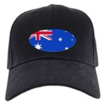 Australia Blank Flag Black Cap