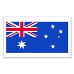Australia Blank Flag Rectangle Sticker