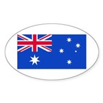 Australia Blank Flag Oval Sticker