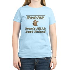 Beaver - Man's Real Best Friend Women's Light Tee