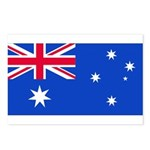 Australia Blank Flag Postcards (Package of 8)