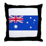 Australia Blank Flag Throw Pillow