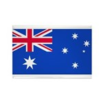 Australia Blank Flag Rectangle Magnet (100 pack)