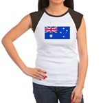 Australia Blank Flag Women's Cap Sleeve T-Shirt