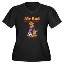 Air Bud Soccer Women's Plus Size V-Neck Dark T-Shi