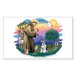 St Francis #2/ Schnauzer #2 Sticker (Rectangle)