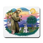 St Francis #2/ Schnauzer #2 Mousepad