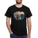 St Francis #2/ Schnauzer #2 Dark T-Shirt