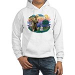 St Francis #2/ Schnauzer #2 Hooded Sweatshirt