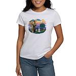 St Francis #2/ Schnauzer #2 Women's T-Shirt