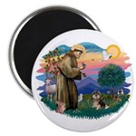 St Francis #2/ Pomeranian (T) Magnet