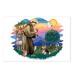 St Francis #2/ Pomeranian (T) Postcards (Package o