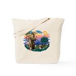 St Francis #2/ Pomeranian (T) Tote Bag