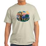 St Francis #2/ Pomeranian (T) Light T-Shirt